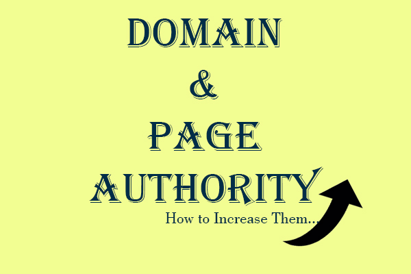 domian and page authority