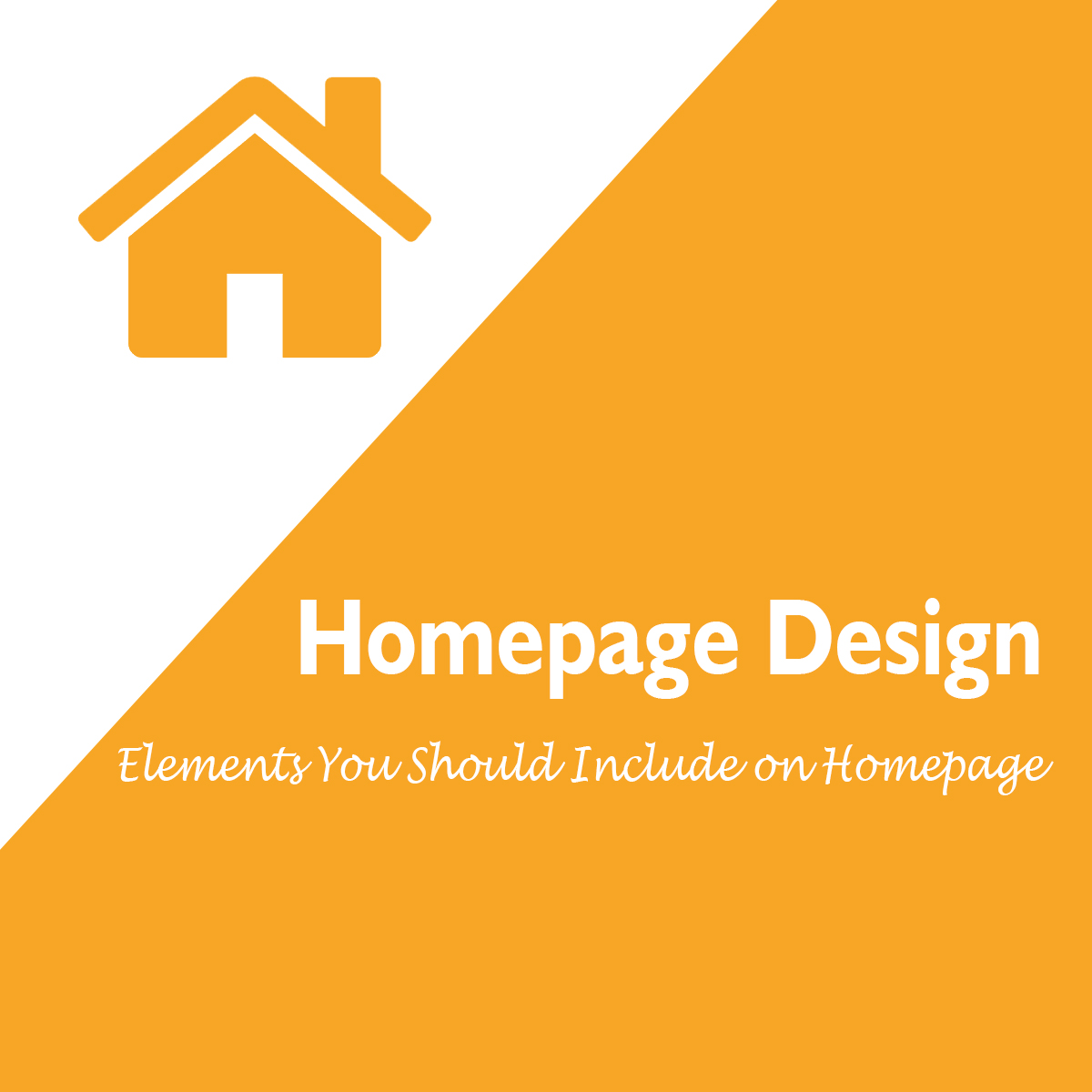 Homepage design - what should you include on your homepage
