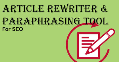 Article Rewriter and paraphrasing tool for seo