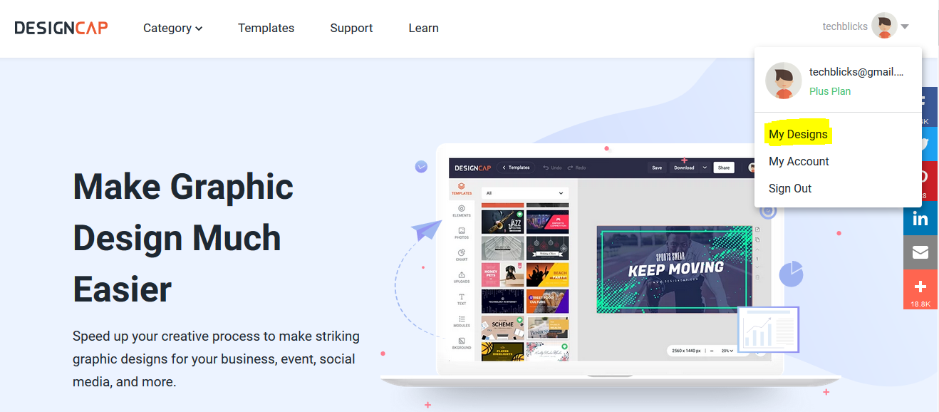 DesignCap – Graphic Designer Review