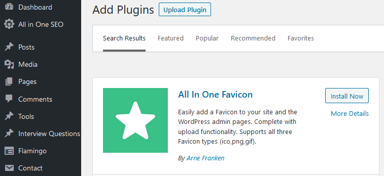 how to add favicon to your wordpress website