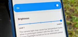 phone brightness